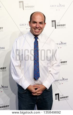 NEW YORK, NY - MAY 18: Senior Media Correspondent Brian Stelter attends the 19th Annual Webby Awards at Cipriani Wall Street on May 18, 2015 in New York City.