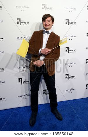 NEW YORK, NY - MAY 18: Chief Happiness Officer of 200happydays Dmitry Golubnichy attends the 19th Annual Webby Awards at Cipriani Wall Street on May 18, 2015 in New York City.