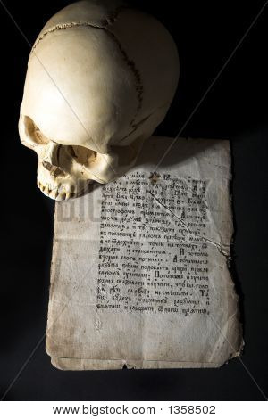 Cranium And Old Manuscript