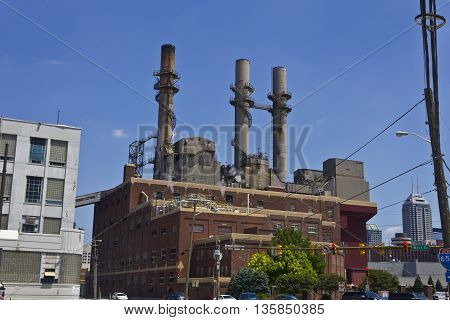 Indianapolis - Circa June 2016: Citizens Energy Group - Perry K. Generating Station in Downtown. Its coal-fired units are currently being converted to natural gas I