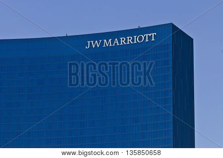 Indianapolis - Circa June 2016: Downtown JW Marriott Hotel. The JW Marriott is a Worldwide Chain of Luxury Hotels II