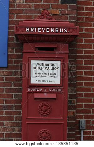 Netherlands or Holland Authentic Old Style Post Office Drop Box