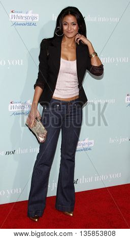 Emmanuelle Chriqui at the World premiere of 'He's Just Not That Into You' held at the Grauman's Chinese Theater in Hollywood, USA on February 2, 2009.