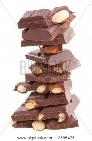 Pile of milk chocolate