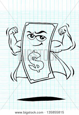 Strong Money,strong Dollar,business Concept,vector Illustration