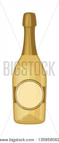 Champagne bottle vector illustration.