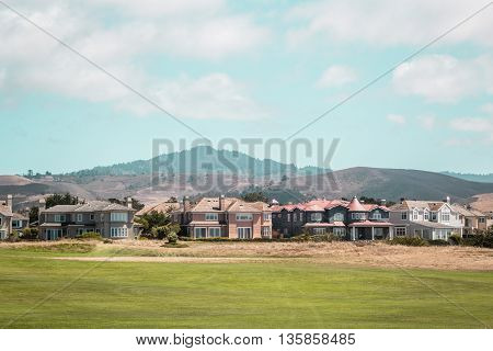Houses Near Half Moon Bay In California