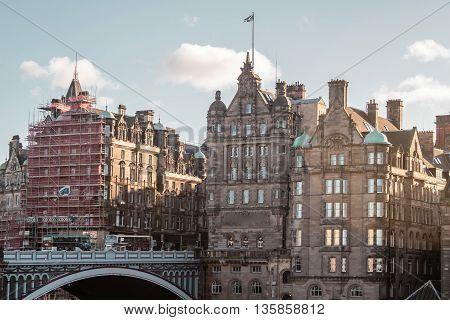 Buildings And Houses Of Edinburgh, Scotland