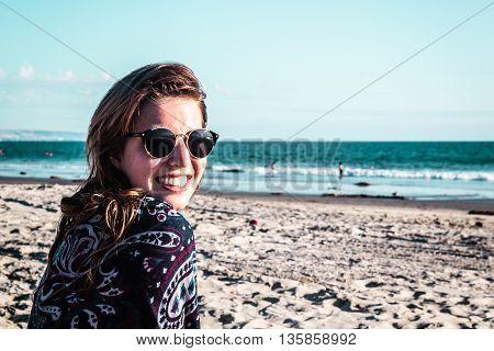 Girl At Coronado Beach, San Diego