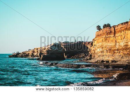 Sunset Cliffs In San Diego, California