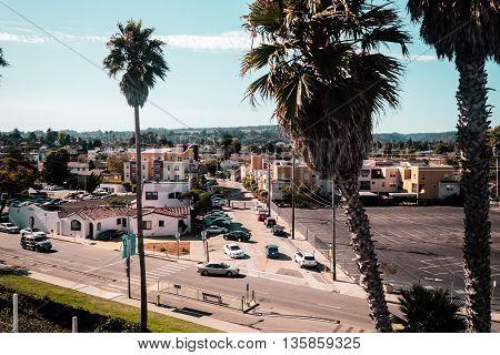 View From Rollercoaster In Santa Cruz Boardwalk, California, United States