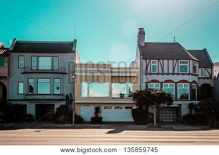 Photo of houses in San Francisco, California