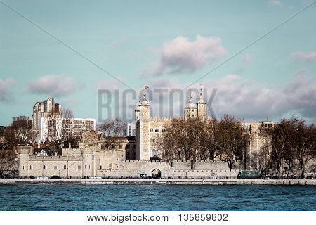Castle Near London Tower Bridge, England