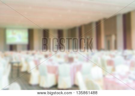Abstract blur Wedding hall, blurred background