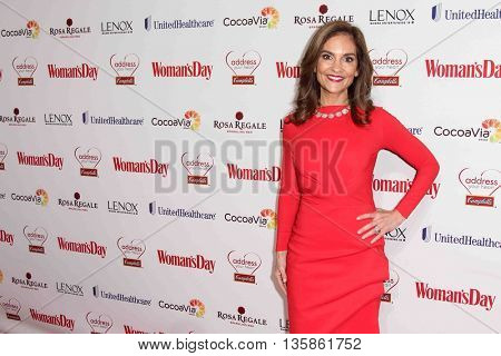 NEW YORK-FEB 10, 2015: TV personality Joy Bauer attends the 12th Annual Woman's Day Red Dress Awards at Jazz at Lincoln Center on February 10, 2015 in New York City.
