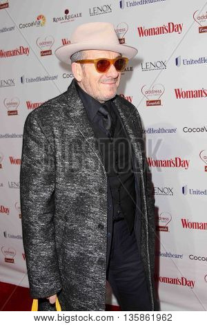 NEW YORK-FEB 10, 2015: Singer/songwrite Elvis Costello attends the 12th Annual Woman's Day Red Dress Awards at Jazz at Lincoln Center on February 10, 2015 in New York City.
