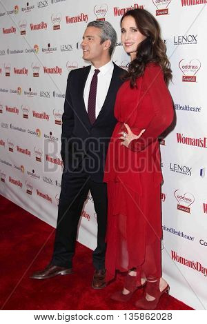 NEW YORK-FEB 10, 2015: TV personality Andy Cohen (L) and actress Andie MacDowell attend the 12th Annual Woman's Day Red Dress Awards at Jazz at Lincoln Center on February 10, 2015 in New York City.