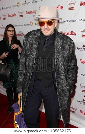 NEW YORK-FEB 10, 2015: Singer/songwriter Elvis Costello attends the 12th Annual Woman's Day Red Dress Awards at Jazz at Lincoln Center on February 10, 2015 in New York City.
