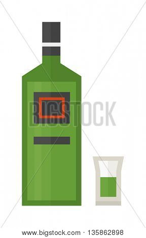 rum bottle vector illustration.
