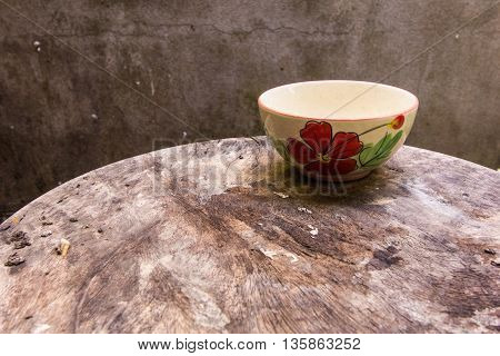 Cup still life on wood table , art