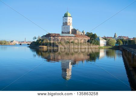 View of the Vyborg castle, sunny october day. Leningrad region, Russia