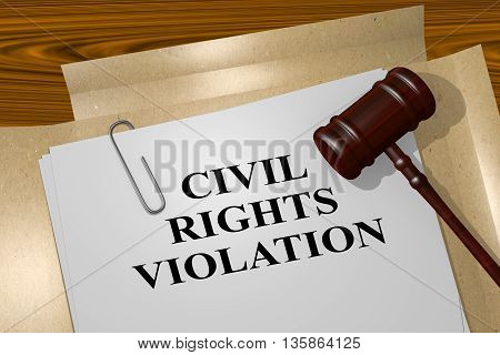 Civil Rights Violation - Legal Concept
