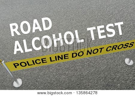 Road Alcohol Test Police Concept