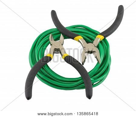 the Electrical tools On a white background