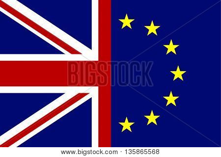 European Union and Great Britain flags concept. Vector illustration