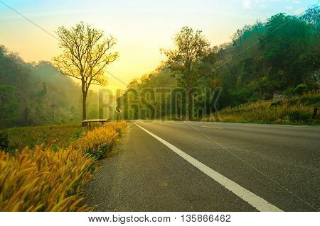 The sun rises in the morning at your destination feeling energetic.