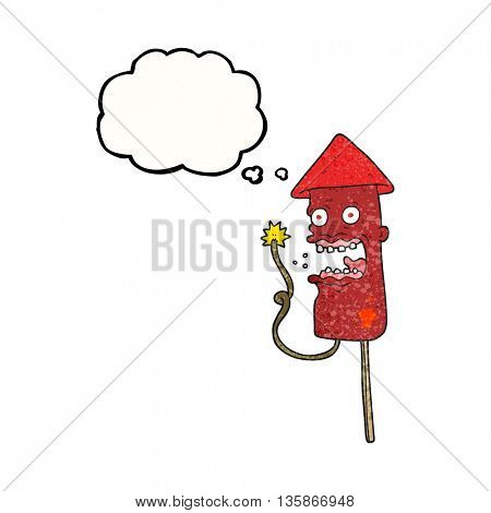 freehand drawn thought bubble textured cartoon screaming firework
