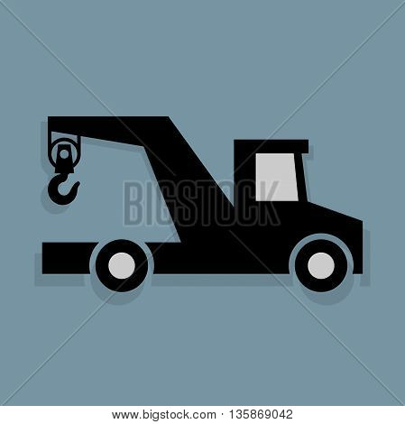 Abstract Transportation icon or sign, vector illustration