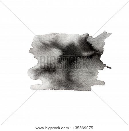 Ink illustration. Isolated on white background. Hand drawn texture. Element for your design.