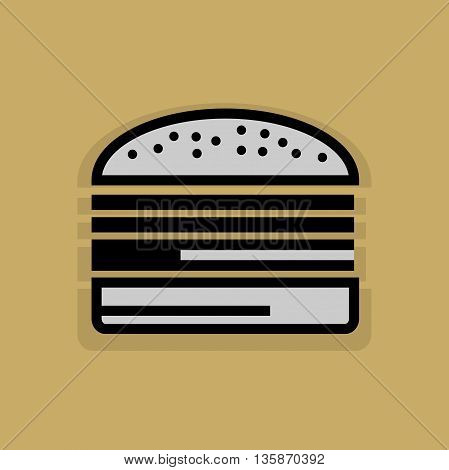 Abstract Fast food icon or sign, vector illustration