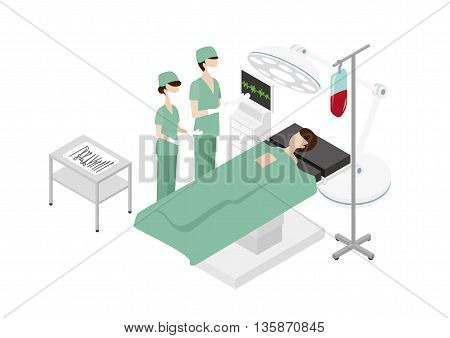A patient is having an operation with Doctors