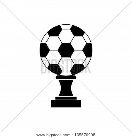 Soccer champion cup icon in black simple style isolated on white background