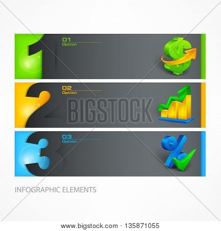Infographic template color vector illustration on white