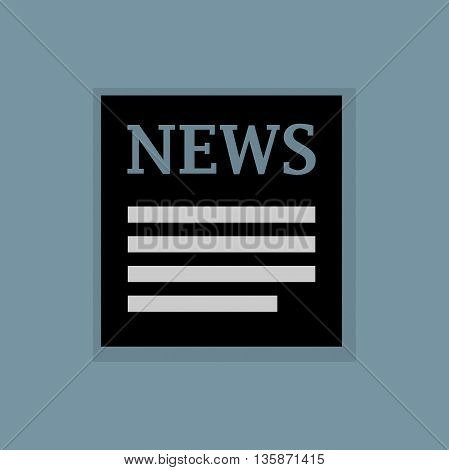 Abstract News icon or sign, vector illustration