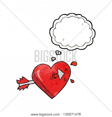 freehand drawn thought bubble textured cartoon arrow through heart freehand drawn thought bubble textured cartoon