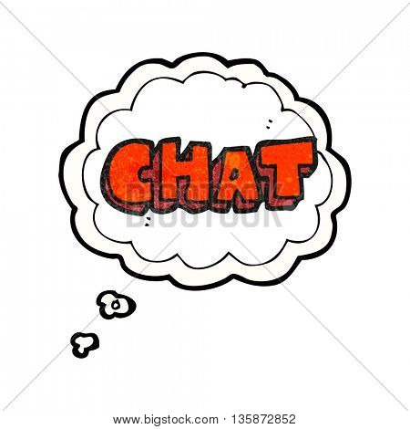 freehand drawn thought bubble textured cartoon chat symbol
