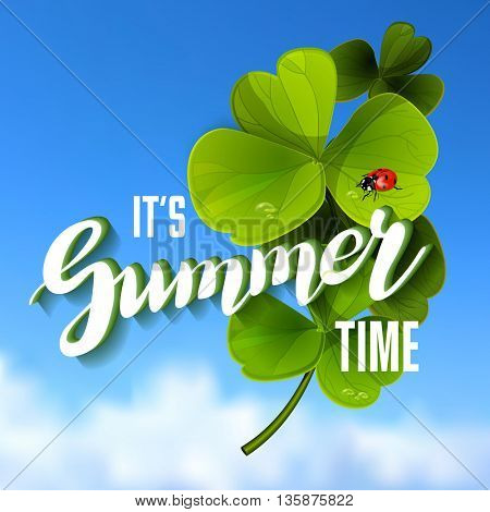 It is Summer Time Lettering Background