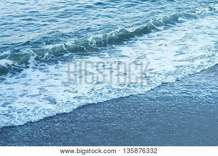 Wave splash details abstract background travel concept