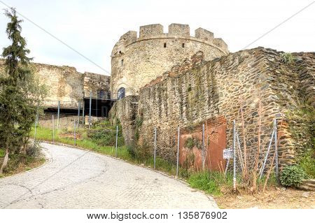 THESSALONIKI GREECE - March 14.2016: Ancient saved fortress tower of old city