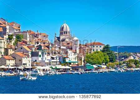 UNESCO town of Sibenik architecture and coastline Dalmatia Croatia