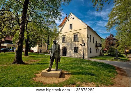 Samobor green park and old architecture northern Croatia