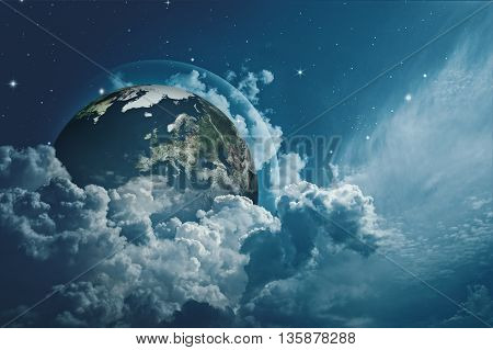 Earth in the skies abstract environmental backgrounds