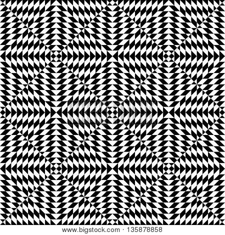 Seamless geometric abstract pattern. Simply balck and white pattern.