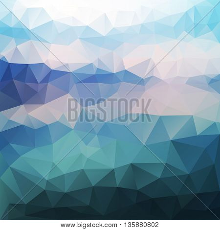 vector polygonal background of seascape, for travel agency or hotel advertising