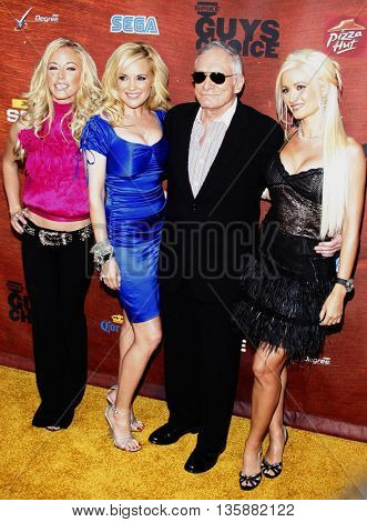 Holly Madison, Hugh Hefner, Bridget Marquardt and Kendra Wilkinson at the Spike TV's 2nd Annual