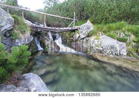 water stream in nature, Romanian Carpathian landscape